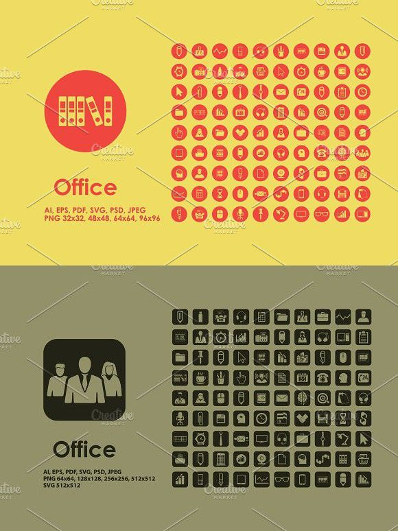 Office icons | Working Design | Office icon, Line icon