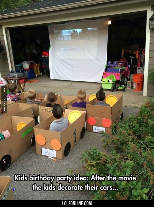 Drive-In Movie For Kids #lol #haha #funny