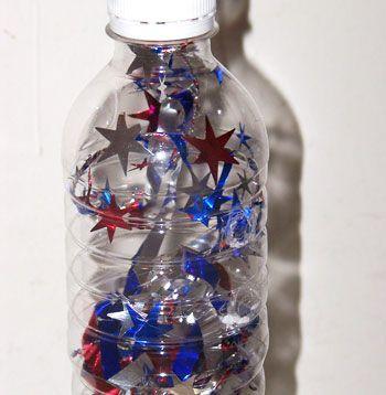 summer crafts: Summer Crafts, Holiday, Water Bottle, Bottle Noisemakers, Art, July Noisemakers, Sensory Bottles