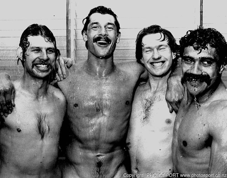 Alan Hewson, Murray Mexted, Stu Wilson and Bernie Fraser, Wellington, Archive Rugby Union. New Zealand All Blacks v Australia late 1980's Photo: PHOTOSPORT/Peter Bush