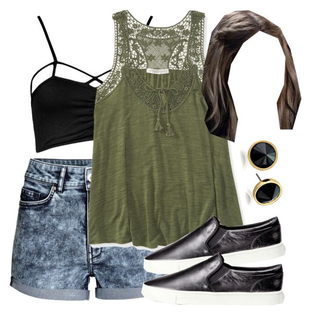 """""""Edgy Hanna Marin inspired outfit for a theme park"""" by liarsstyle ❤ liked on Polyvore featuring мода, H&M, Boohoo, Aéropostale, Trina Turk LA, casual, picnic, park, themepark и ss"""