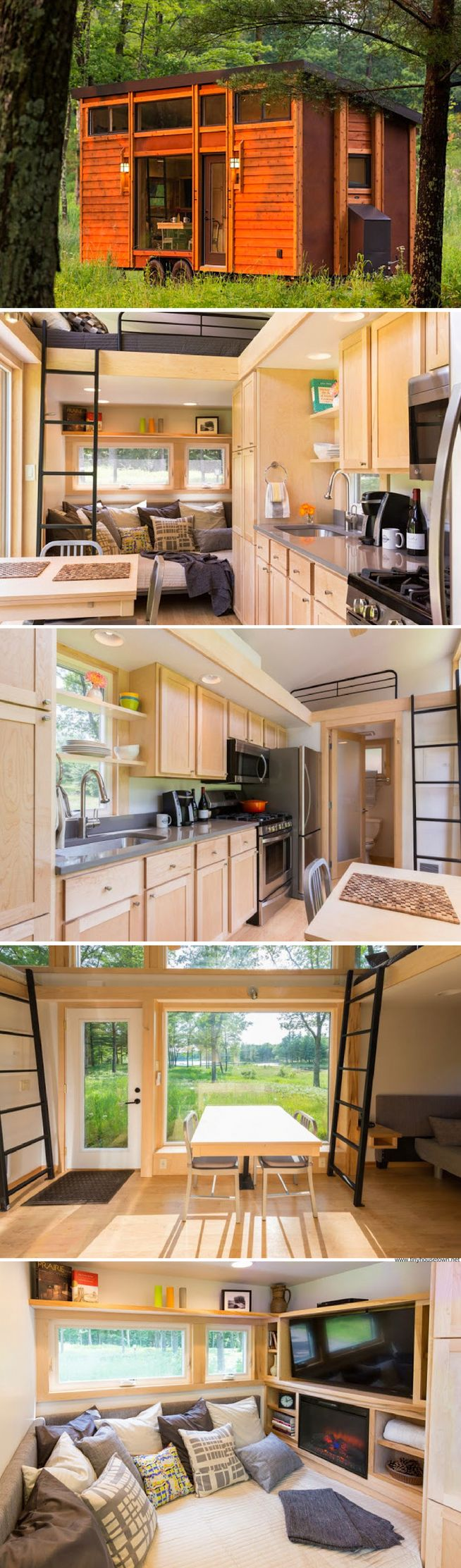 Converting sheds into livable space miniature homes and spaces - A Beautiful 269 Sq Ft Tiny House From Escape Homes Livable Shedslight