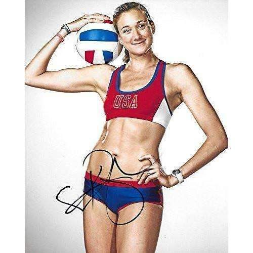 Kerri Walsh Jennings, USA Olympic, Volleyball Player, Signed, Autographed, 8x10 Photo, a COA with the Proof Photo of Kerri Signing Will Be Included,.