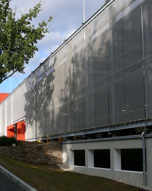 Parking Garage Ventilation : Best parking garages with architectural mesh images on