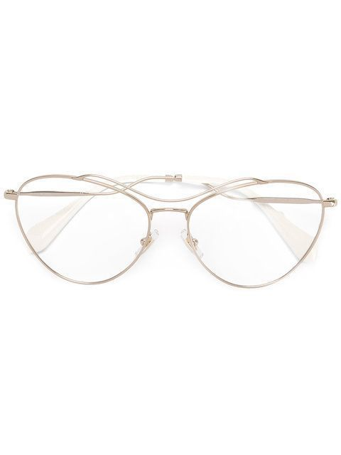 e611617fc6 Miu Miu Eyewear aviator shaped glasses  MiuMiu