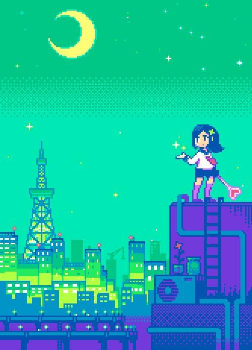 Le japon en gif 8bits et animé pixel art | Manga.Tv - Anime Online en streaming légal et gratuit !