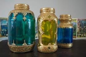 matsutake: Spaghetti Sauce Jar Moroccan Lanterns