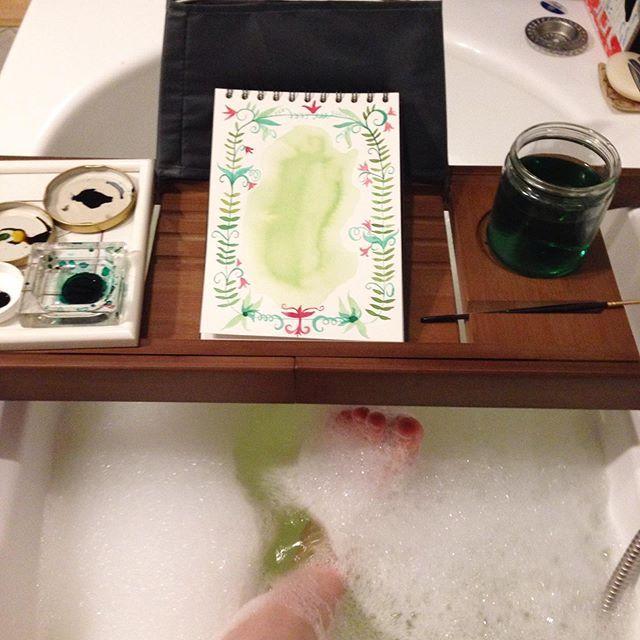 Experiment Badewanne Und Wasserfarben Ich Bin Gespannt Ob Ich