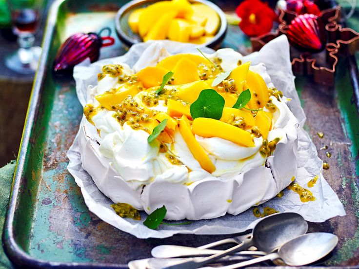 This iconic Australian dessert is made even more delicious with the addition of fresh tropical fruits. Whip up this gorgeous pavlova for a special occasion, birthday party or Christmas celebration.