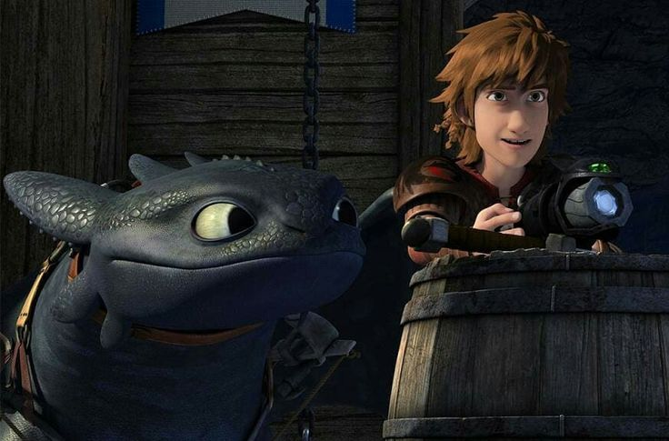 New picture from Season 6! < Hiccup and Toothless. :)