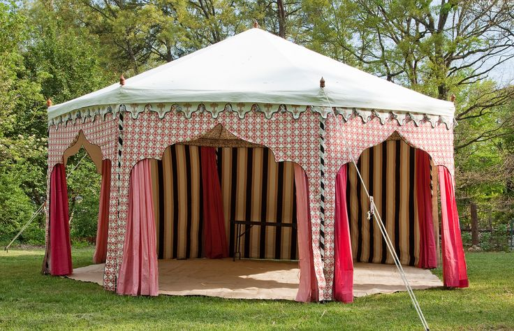 How cool would this be for an art show--You'd standout from the white tents. http://gypsyfairetents.com/
