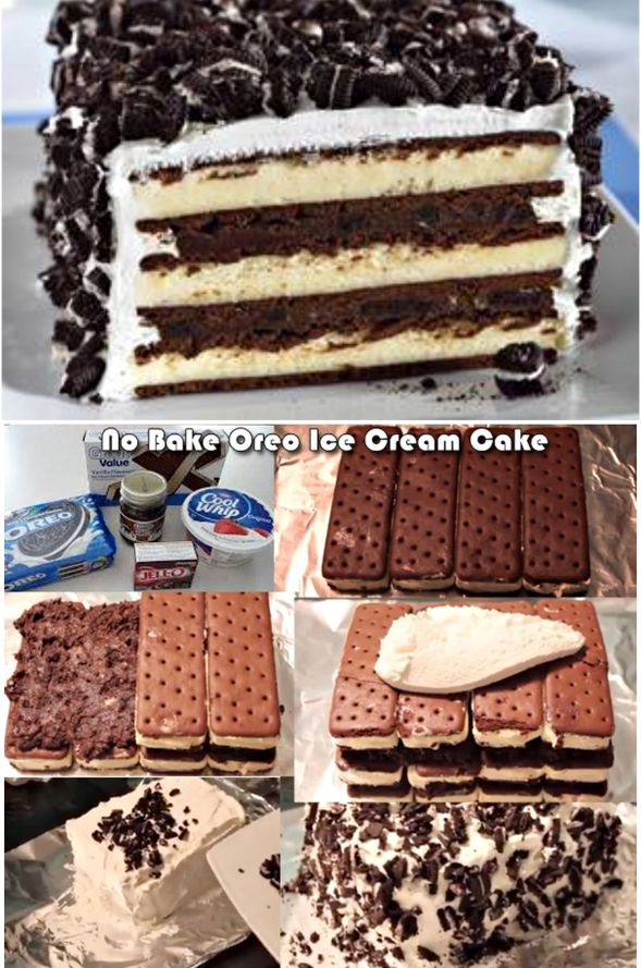 No Bake Oreo Icecream Cake
