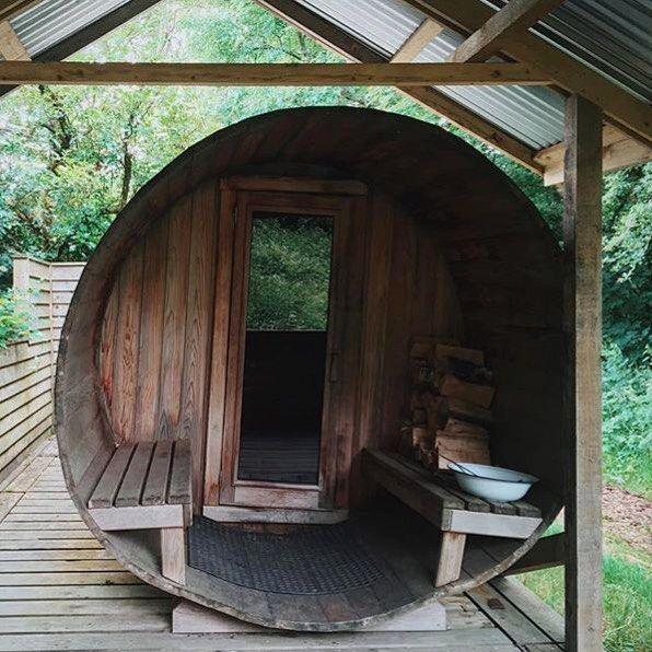 🌳fforest spa Our sauna in the woods 📷 by @daydream_nation . #stayplaydream #fforestgather #saunainthewoods…