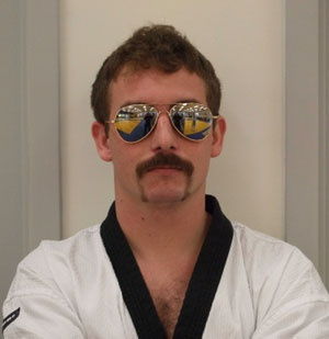 This type of mustache is commonly found in the Southern US. I chose this guy because he wore sunglasses to match.