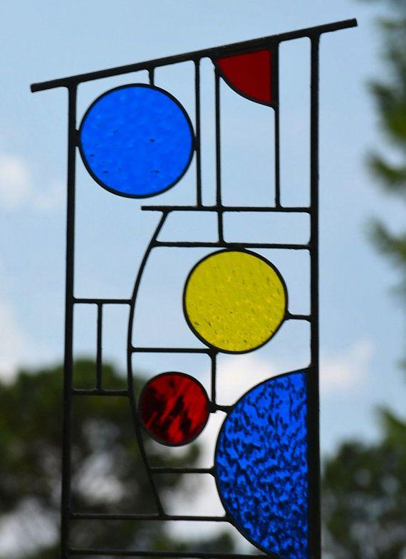 Grote gekleurd glas tuin decoratie Yard Art door WindsongGlassStudio