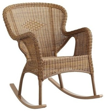 Coco Cove Rocker, Honey - traditional - outdoor chairs - Pier 1 Imports