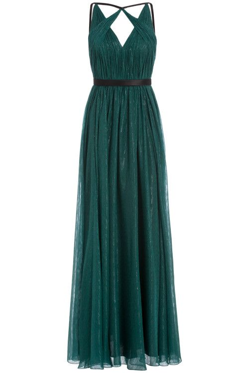 Cutout Neckline Gown
