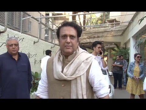 Comedy King Govinda spotted at Sunny Super Sound Studio, Mumbai.