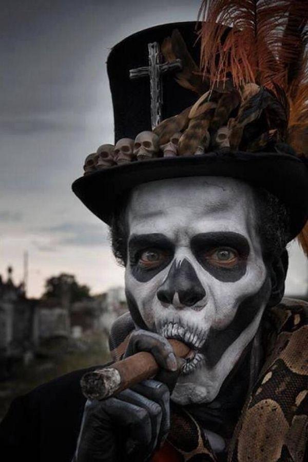 Perfect Skull Make Up Men