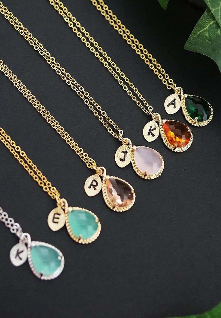 Personalized necklaces with initial charm: