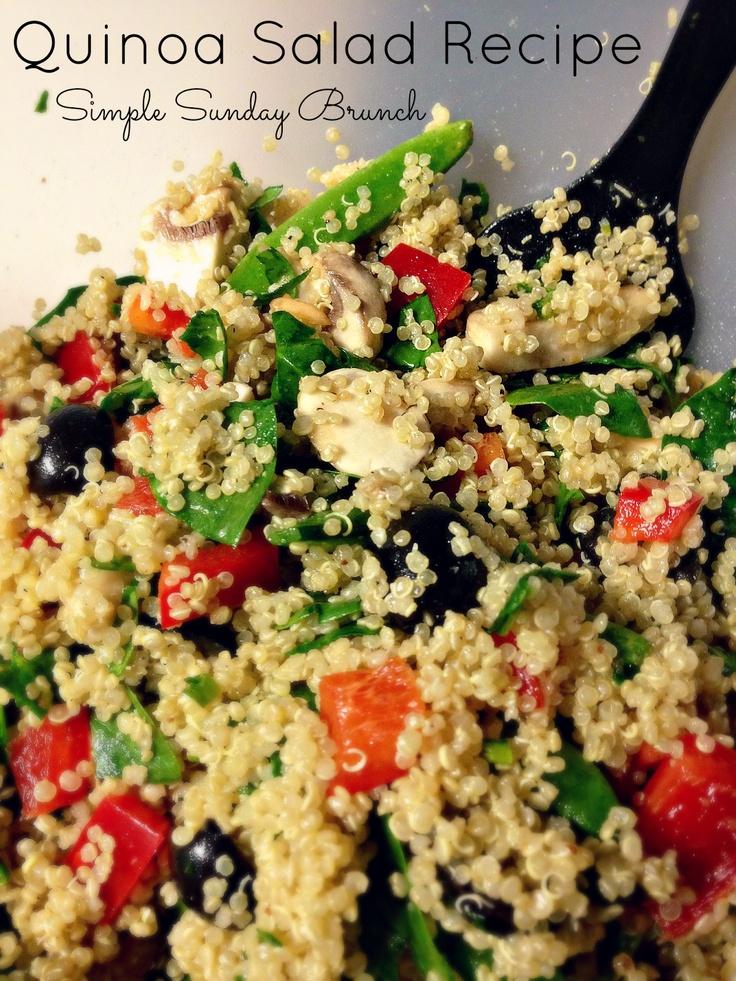 Quinoa Salad | Simple Sunday Brunch | Salads | Pinterest