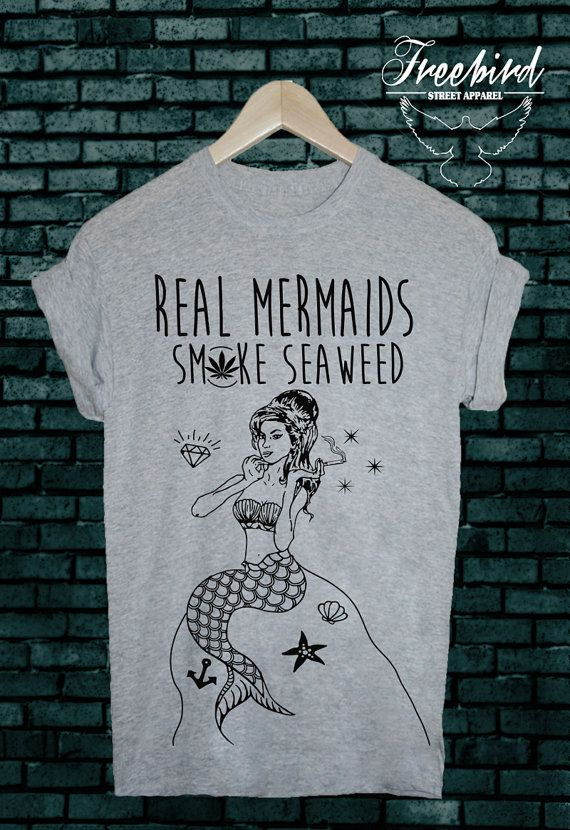 REAL mermaids SMOKE seaweed grunge sea tshirt tee