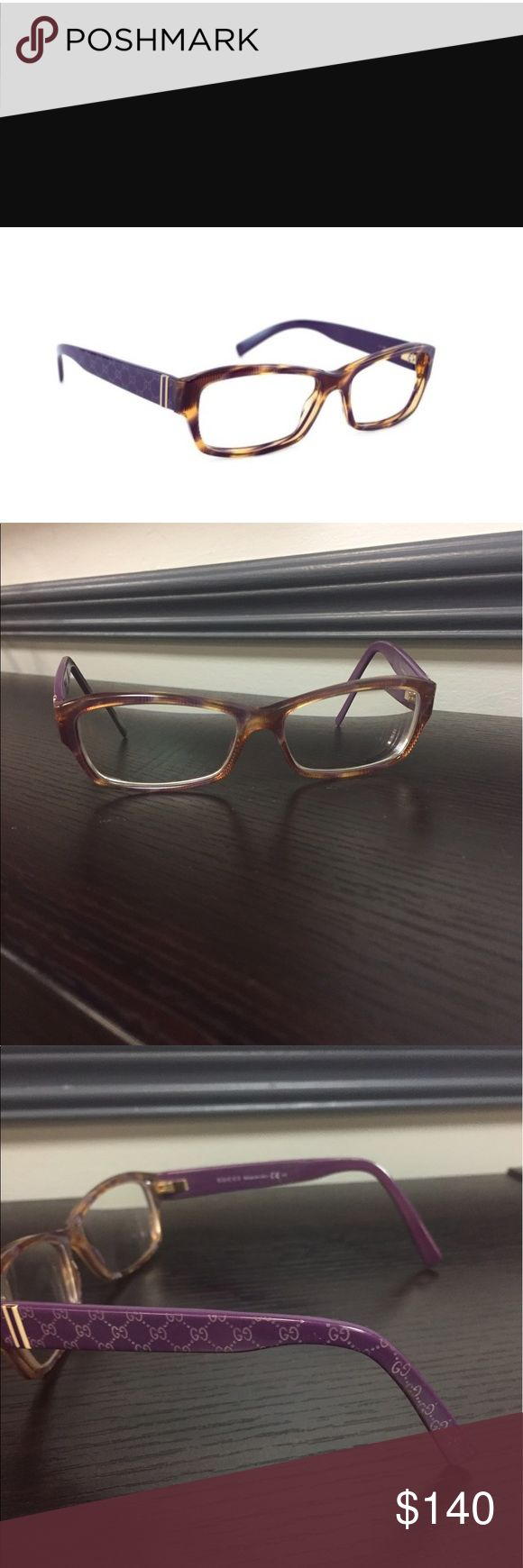 Gucci GG 3198 037 Eyeglasses Violet Beige Rx Lens Gucci GG 3198 O37 Eyeglasses. 140mm temple. Violet beige frame. Rx prescription lenses. Minimal wear to eyeglass temples (part that fits on ears). Frame and lenses in good condition. Hinges and screw in tact. Frame is purple (violet and beige) resembling a tortoise shell look. Excellent used condition. 😊 Thank you. Gucci Accessories Glasses