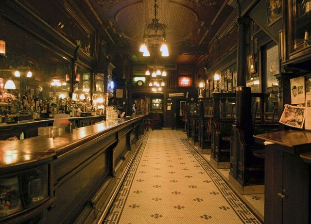 Old Town Bar,NYC. Original interior of possibly the oldest bar in NYC.  The Old Town, which opened in 1892, was a famed Prohibition speakeasy and is a favorite shooting location for film and TV shows like The Devil's Own and Law & Order.