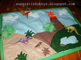 Support Blog for Moms of BOYS!: Dino Felt Play Mat