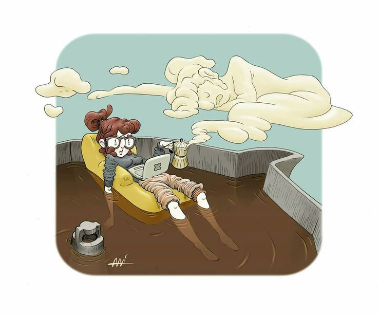 Relaxing cup of cafe solo by Ali del Rey Ilustra #coffe #decaf #alidelreyilustra #relaxingcupofcafesolo