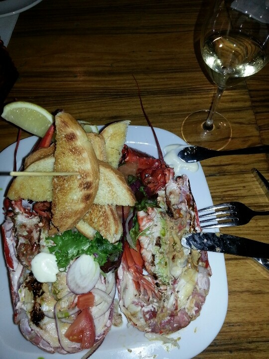 Lobster & champaign for lunch. Great!