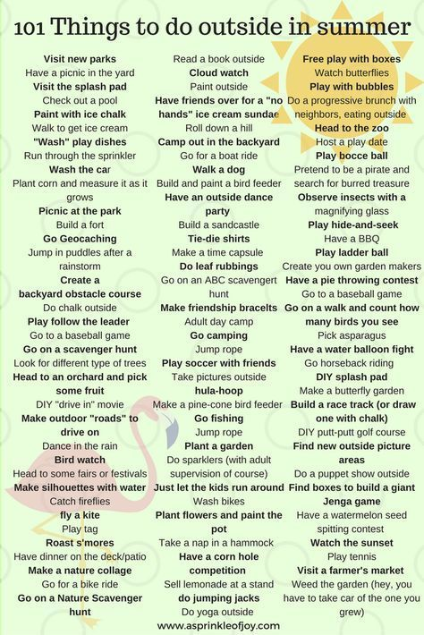 101 Things To Do Outside This Summer Kids Home For The Summer