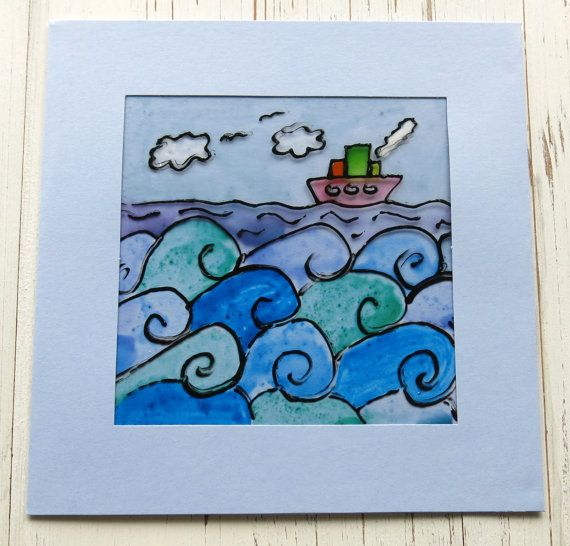 Handmade card for men  sailing ship  boats   by itsaMessyNest