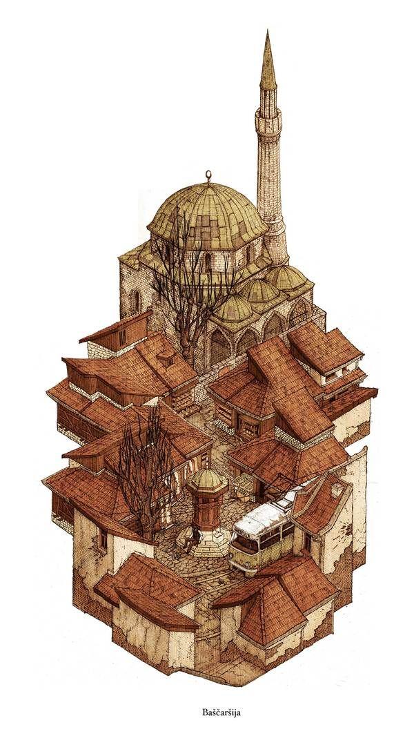 Bascarsija by Evan Wakelin, via Behance
