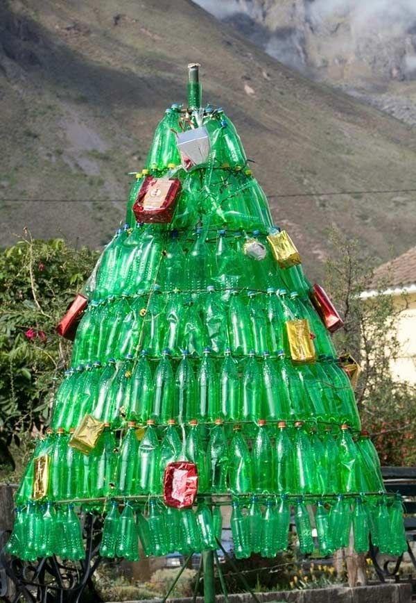 Arvore De Natal De Garrafa Pet Reciclada Garrafas Pet Garrafa