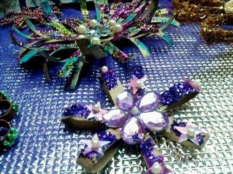 DIY Ornaments using toilet paper rolls Crafts ideas.