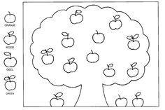 appelboom kleurplaat zoeken kleurplaten
