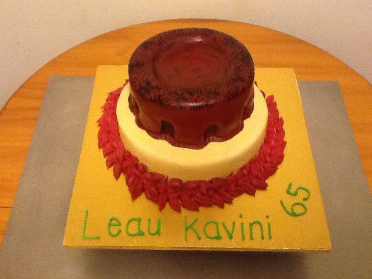 Kava bowl cake 1st attempt, samoan culture