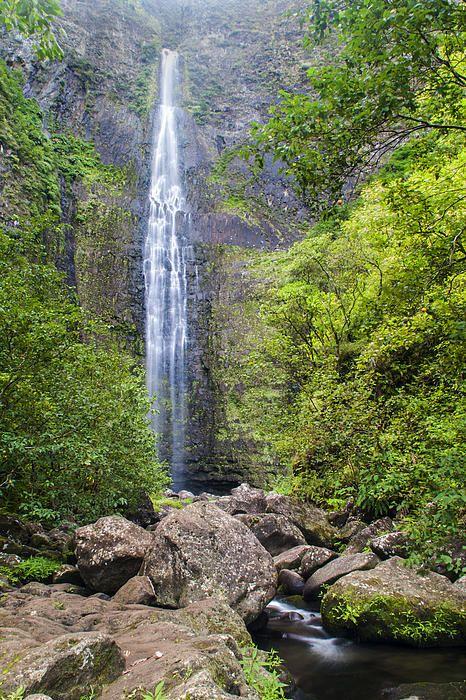 Hanakapiai Falls - Kalalau Trail Kauai Hawaii by Brian Harig