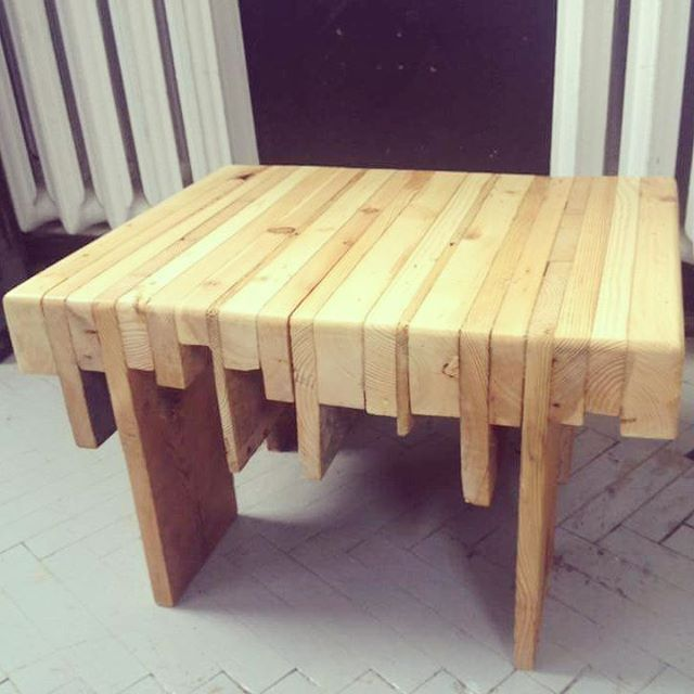 Table made from old boards