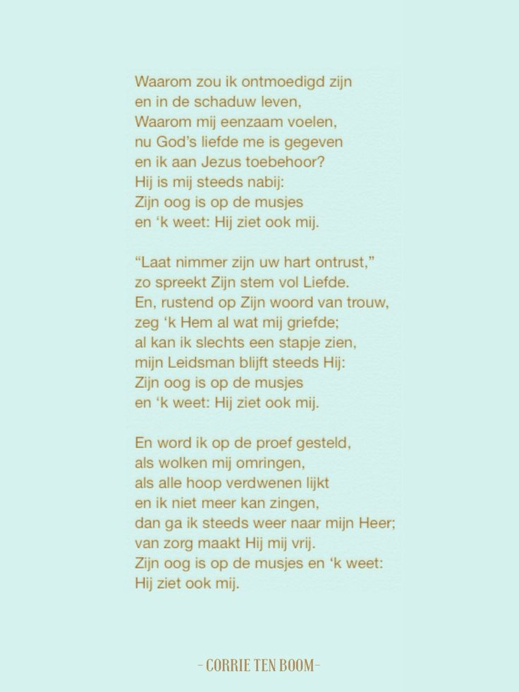 Gedicht Corrie ten Boom