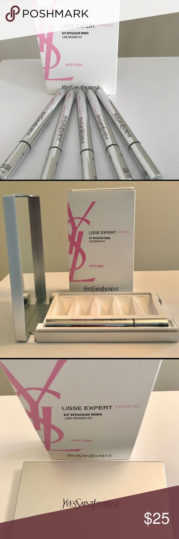 YSL mirrored Beauty case and wrinkle filler pen NWT