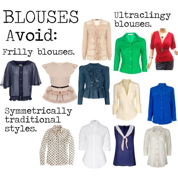 """""""Flamboyant Gamine (FG) Blouses to avoid"""" by lightspring on Polyvore"""
