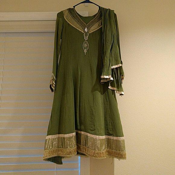 Grand indian dress Grand Indian Punjabi dress dupatta legging included Dresses