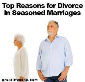 Top Reasons for Divorce in Seasoned Marriages. Some of the reasons may be common while others may startle you a bit. Pl read to avoid a divorce