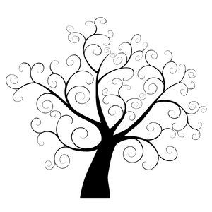 Swirly Tree for Picture Wall