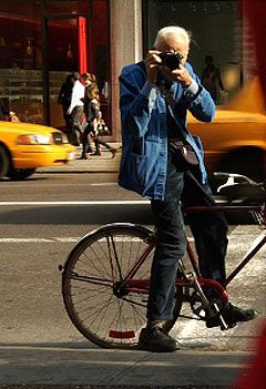 Bill Cunningham, New York Times fashion photographer...  I am in love with him.