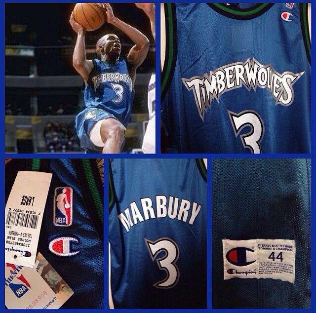 be779ad80 ... Swingman White Jersey Stephon Marbury - Minnesota Timberwolves ...