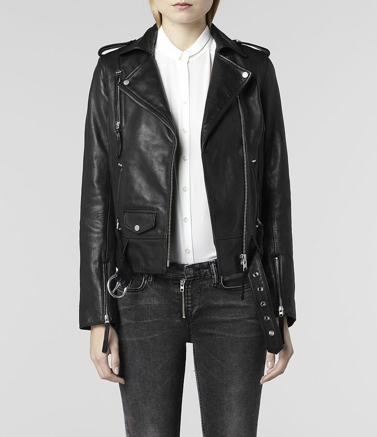 All Saints Leather Jacket @CO DE + / F_ORM