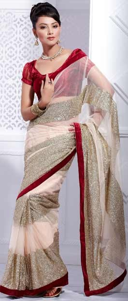 Light #Pink Net #Saree With #Blouse @ $122.52 | Shop Here: http://www.utsavfashion.com/store/sarees-large.aspx?icode=skk13762 #netsaree #snapdeal #India